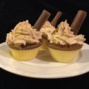 Apple cinnamon soap cupcake